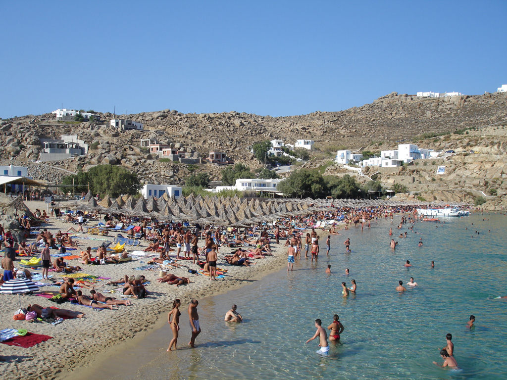 image Mykonos greece paradise beach summer party
