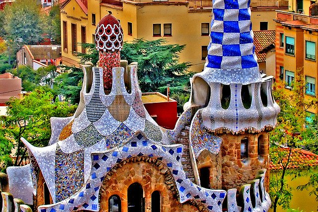 barcelona part2 gaudi park guell moco choco. Black Bedroom Furniture Sets. Home Design Ideas