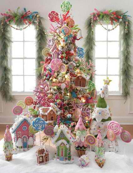 Christmas Tree Decorating Ideas Candies Moco Choco