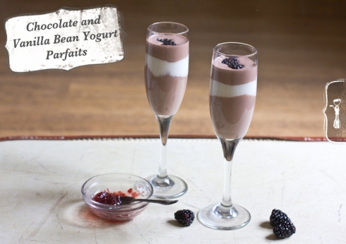 Chocolate Yogurt Mousse With Vanilla Cherry Compote Recipe ...