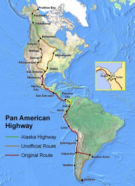 most unusual streets  Pan-American Highway
