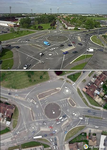 most unusual streets Magic Roundabout – Swindon, UK