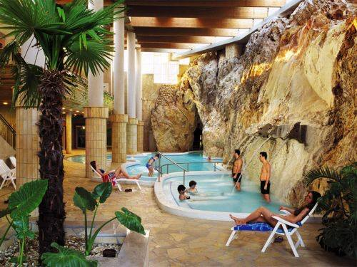 gorgeous thermal baths inside a cave