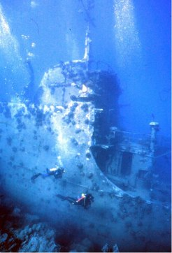 "important shipwrecks ""Russian Wreck"" shipwreck Off Zabagad Island, South Egyptian Red Sea 2"