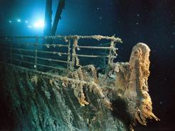 important shipwrecks-bow railing of titanic