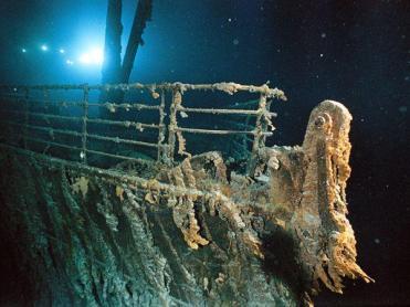 important shipwrecks-bow railing of titanic