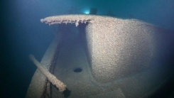 L. R. Doty important shipwrecks The gangway under the boilerhouse roof