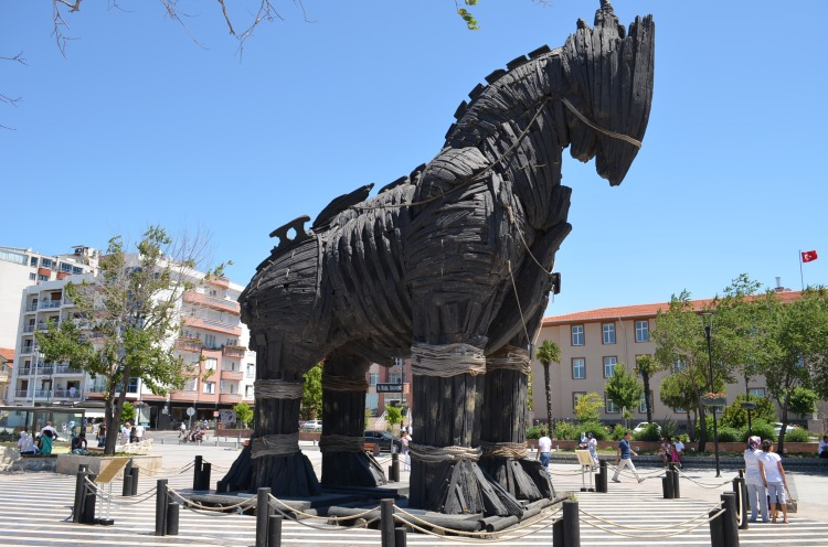 the Trojan horse used in the Brad Pitt Movie