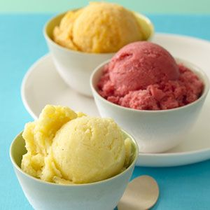 healthy homemade sorbet with papaya