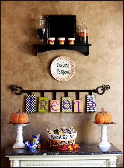 30 creative and inspiring halloween decorating ideas for Cute halloween decorations to make at home