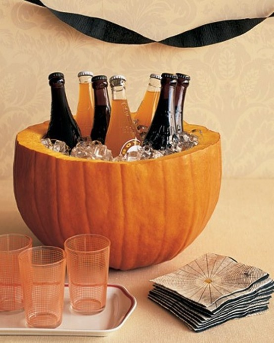 indoor halloween decorating ideas with pumkin 4 - Diy Halloween Decorations Indoor
