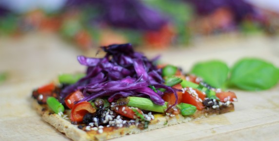 healthy vegetarian pizza recipe
