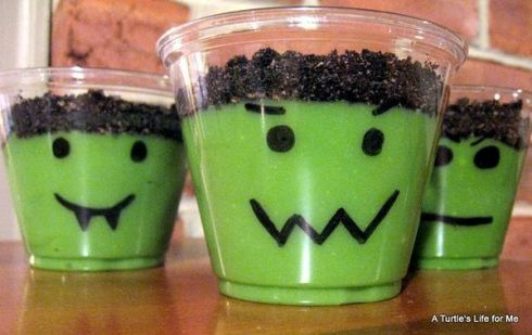 Easy and cute frankenstein halloween recipe