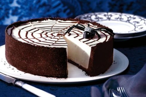 Easy and cute halloween cheesecake recipe