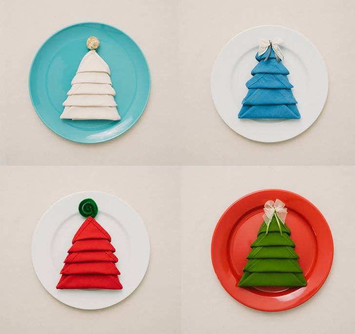 diy christmas tree napkin fold moco choco