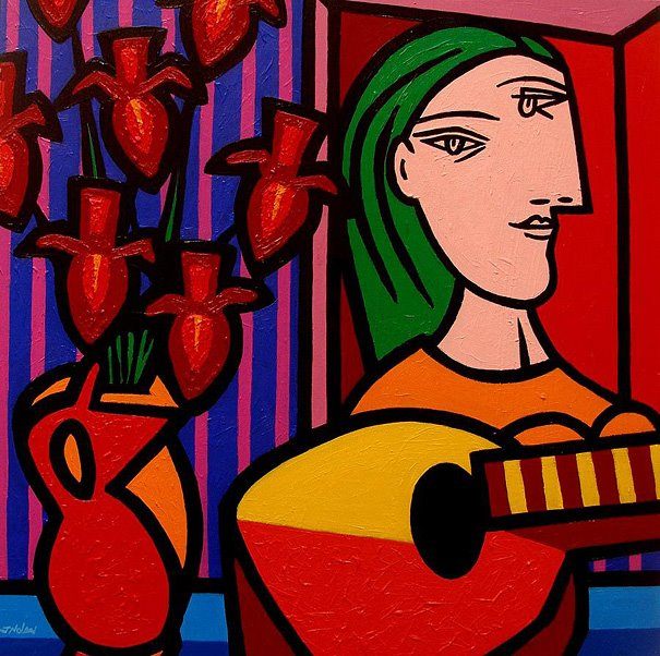 free picasso famous paintings coloring pages