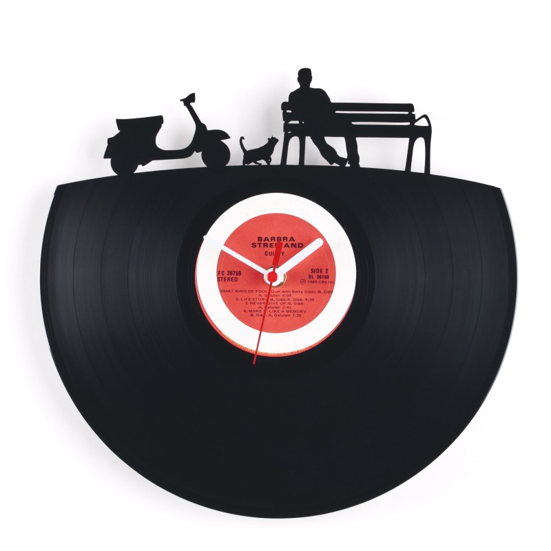 Amazing Art Clock Made From Vinyl Records Moco Choco