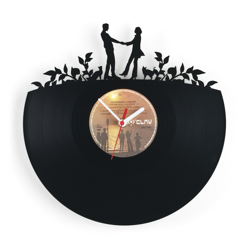 Amazing Art Clock Made From Vinyl Records Moco Choco