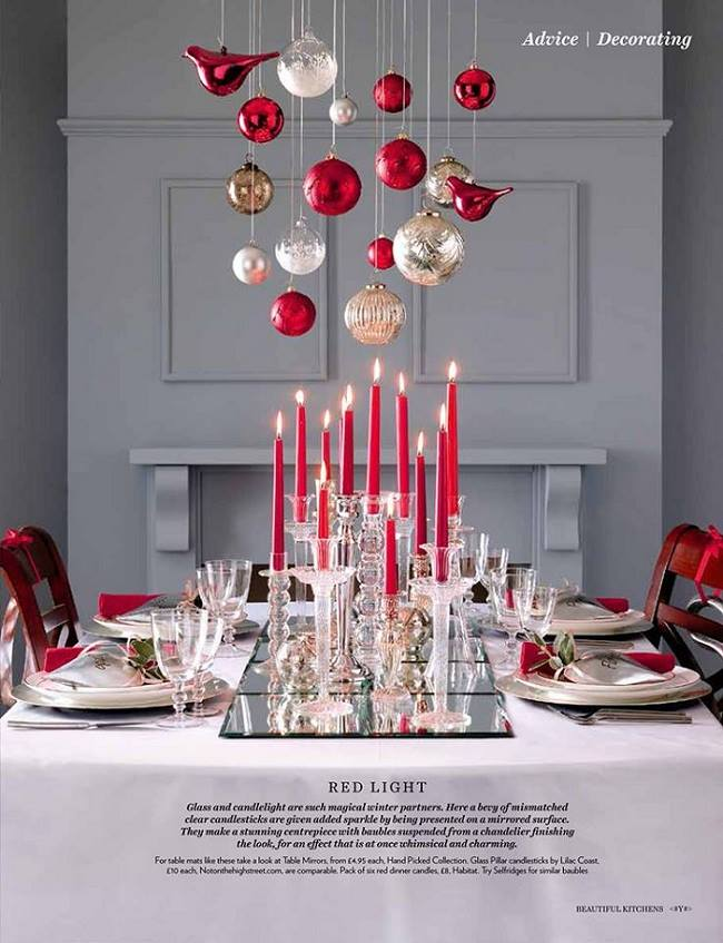 70 creative and inspiring christmas table decorating ideas. Black Bedroom Furniture Sets. Home Design Ideas