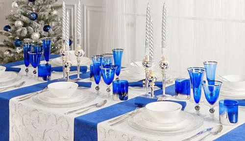 Christmas Table Decor Blue : Creative and inspiring christmas table decorating ideas