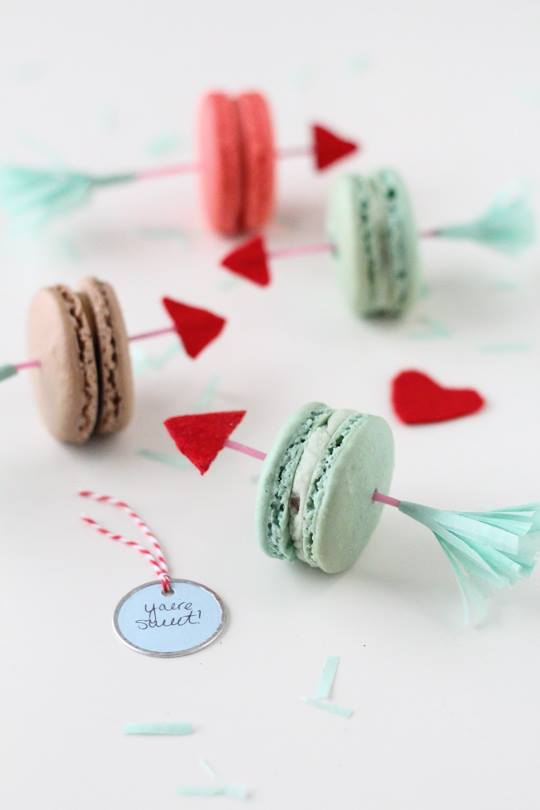 pretty arrow cookies recipe for the VDay
