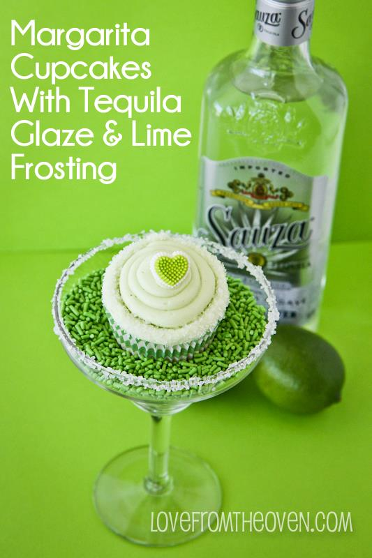 pretty margarita cupcake recipe for the VDay