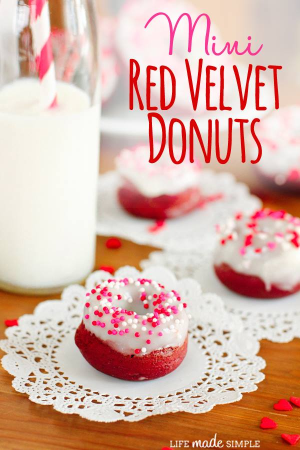 pretty donuts recipe for the VDay