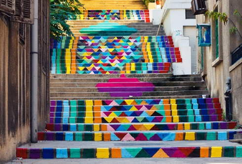 amazing stairs street art around the world, Lebanon