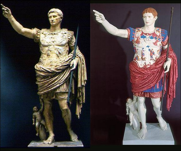 the original colors of ancient Greek and Roman sculptures 4