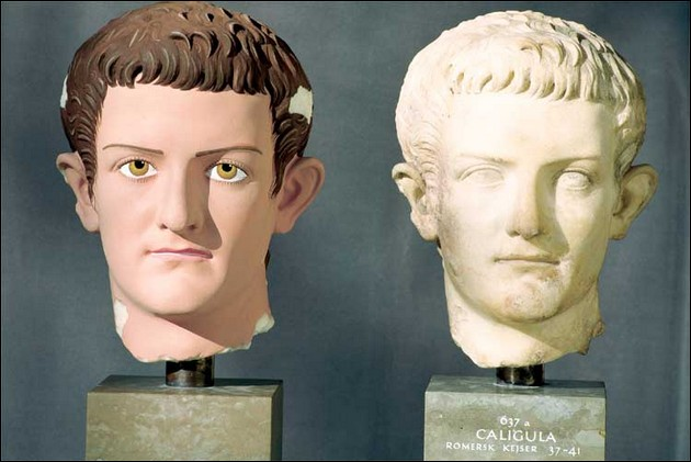 the original colors of ancient Greek and Roman sculptures 5