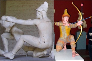 the original colors of ancient Greek and Roman sculptures 14