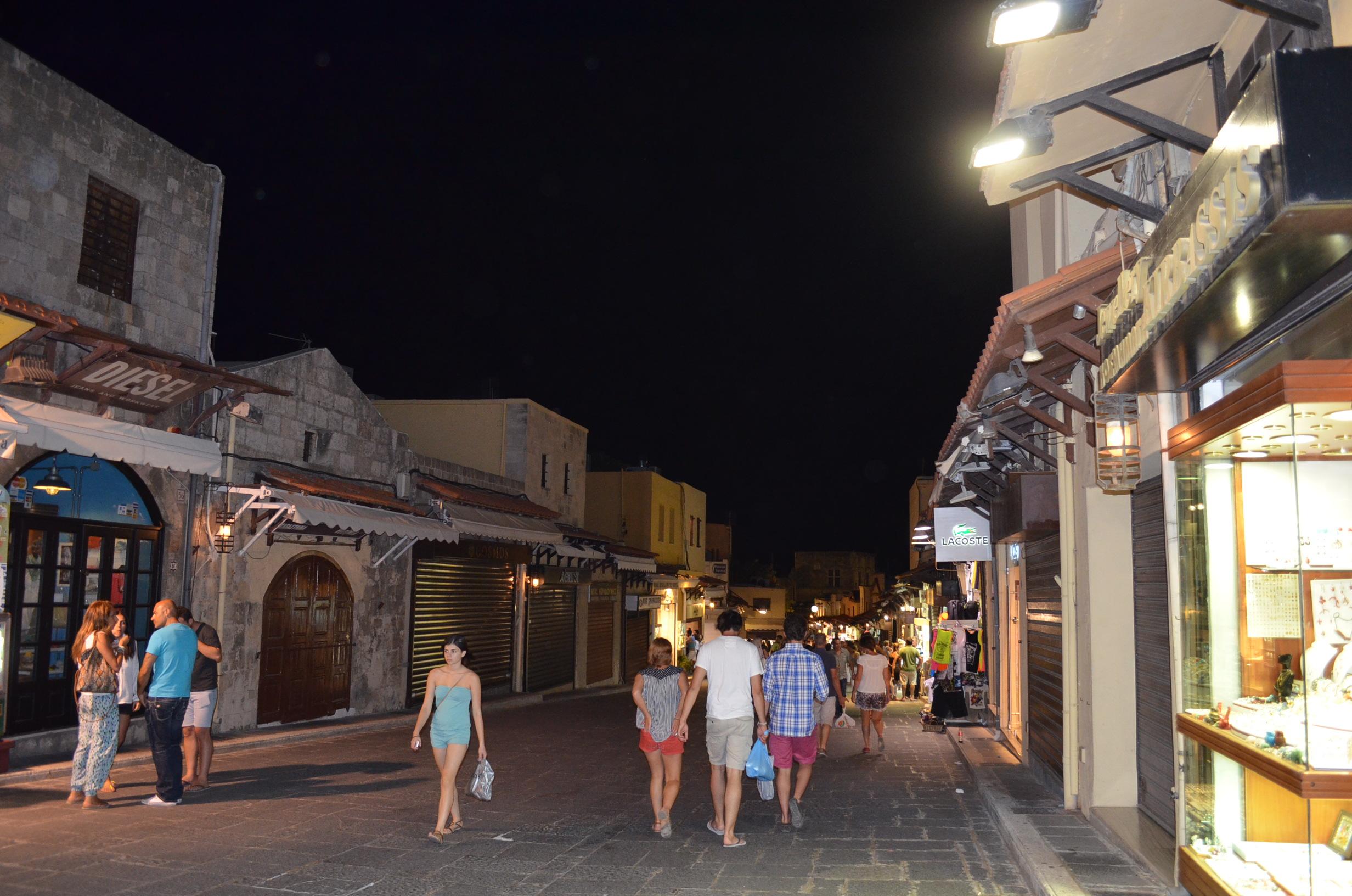 Rhodes Island Old City By Night 6 Jpg