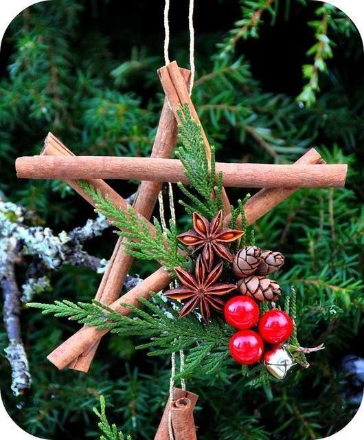 Homemade Christmas Star Ornament: 30 DIY Rustic Christmas Ornaments Ideas