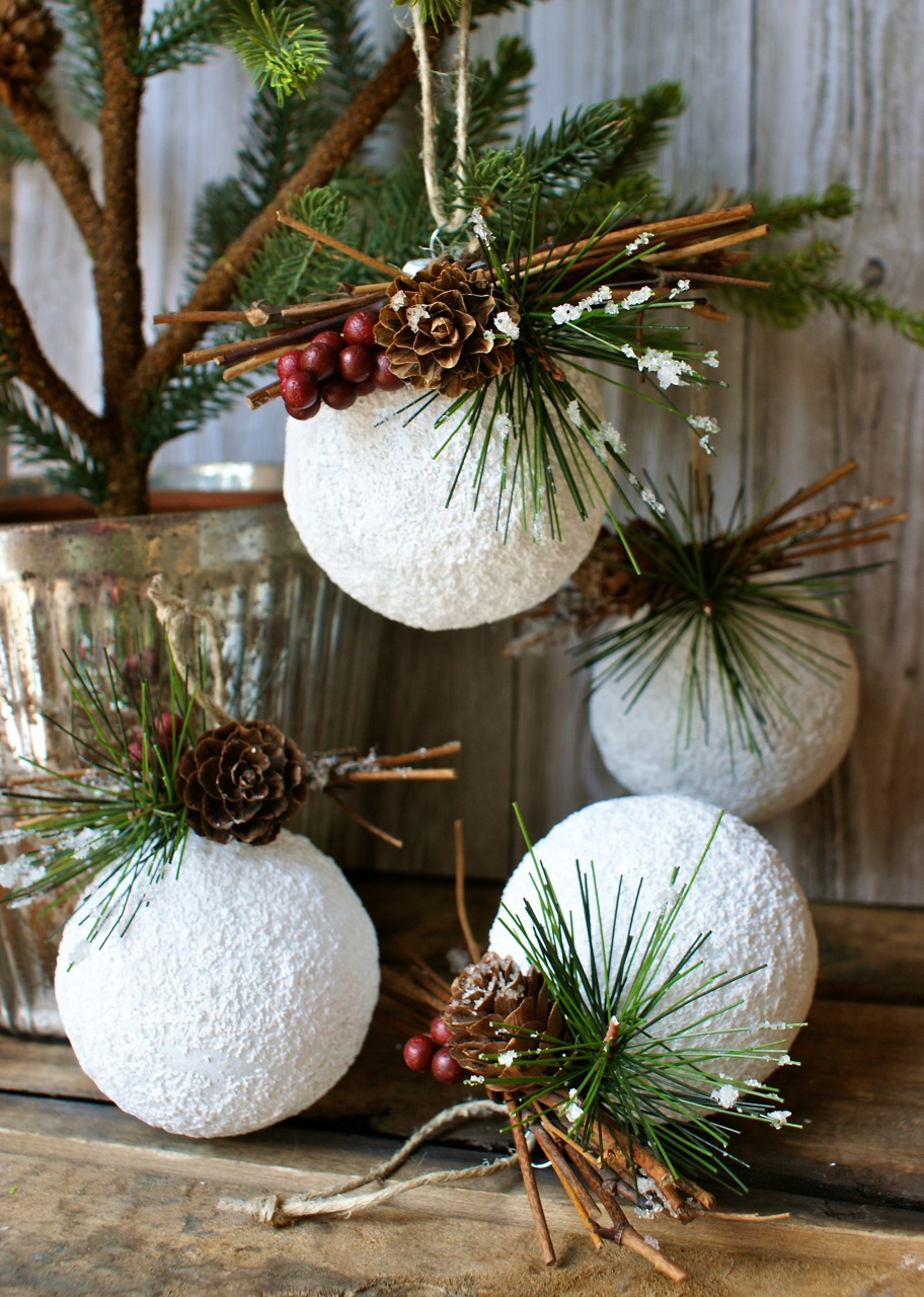 diy christmas ornaments from recycled materials