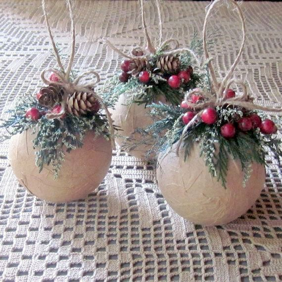 Decorated Christmas Balls: 30 DIY Rustic Christmas Ornaments Ideas
