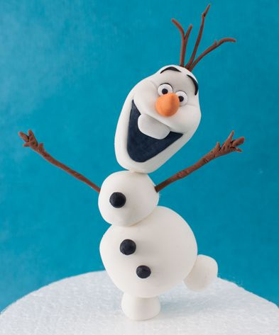 the cutest olaf treat made of fondant