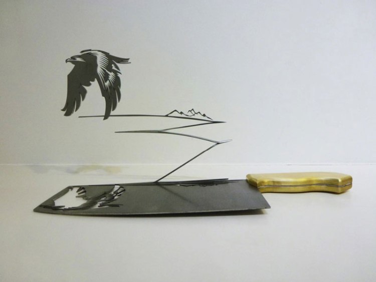فن النحت علي السكين