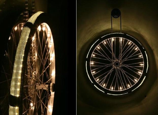 innovative lighting art, wheel light