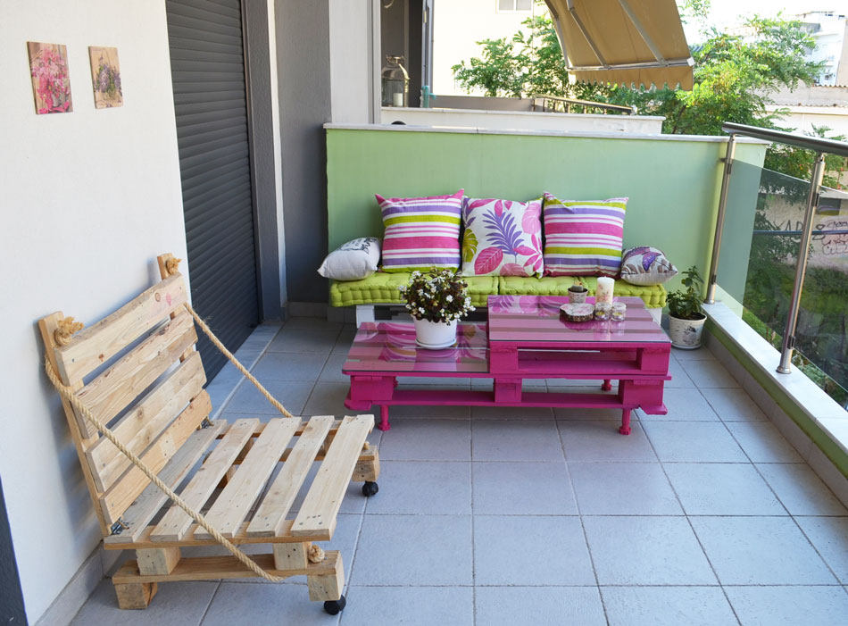 Easy and cute diy outdoor pallet furniture moco choco - Idee deco avec palettes bois ...