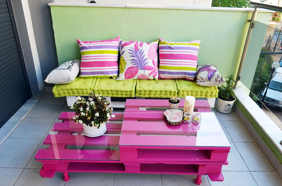 Easy and cute diy outdoor pallet furniture moco choco - Table basse avec des palettes ...