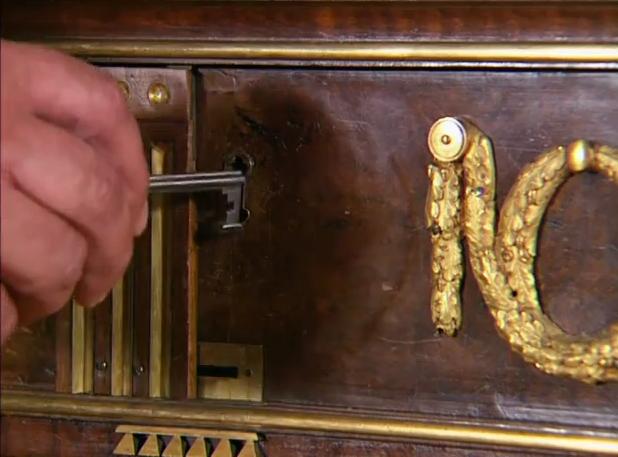 Amazing 200 year old hand made desk full of secret for Furniture w hidden compartments