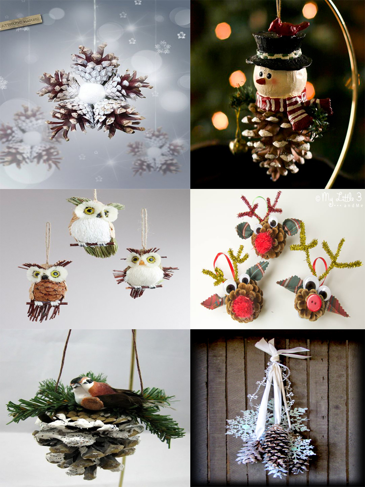 40 Easy and Cute DIY Pine Cone Christmas Crafts | moco-choco