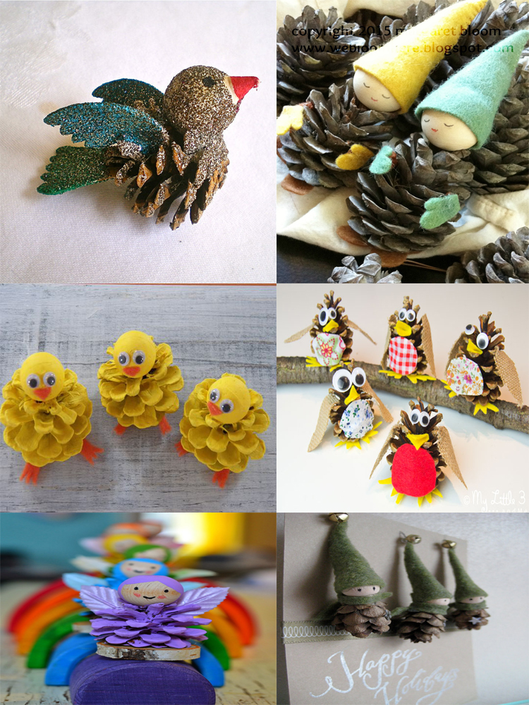 40 easy and cute diy pine cone christmas crafts moco choco for Pine cone christmas ornaments crafts