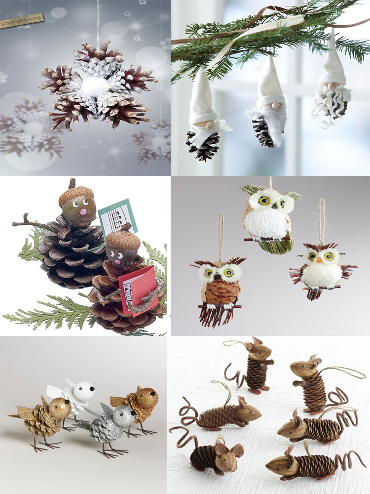 40 easy and cute diy pine cone christmas crafts moco choco for Crafts made with pine cones for christmas