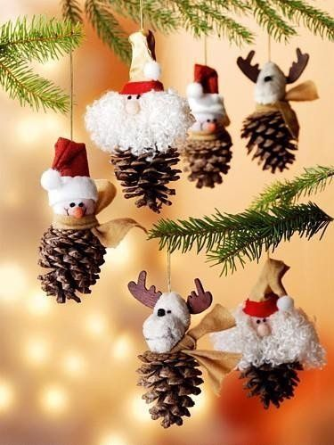 Christmas Pine Cone Ornaments